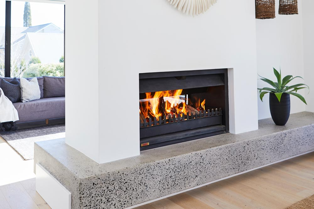 Jetmaster Double Sided Fireplace, Highland Fires and BBQs