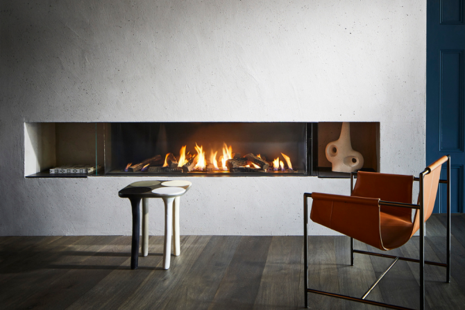 Ortal Three-sided Gas Fires – Multiple Sizes