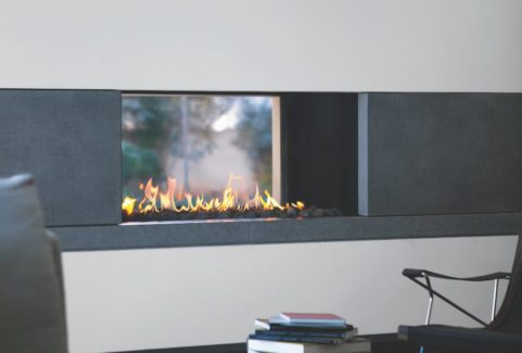 Ortal Double-sided Gas Fires – Multiple Sizes